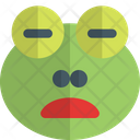 Frog Frowning Open Mouth Closed Eyes Icon