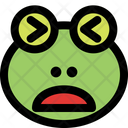 Frog Frowning Open Mouth Squinting Icon