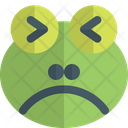 Frog Frowning Squinting Icon