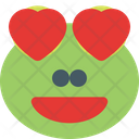 Frog Grinning Heart Eyes Icon