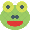 Frog Grinning Open Eyes Icon