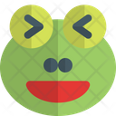Frog Grinning Squinting Animal Wildlife Icon