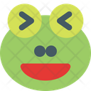 Frog Grinning Squinting Icon