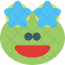Frog Grinning Star Struck Icon