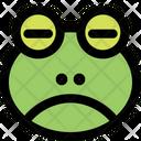 Frog Sad Closed Eyes Icon