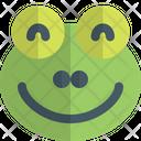 Frog Smiling Animal Wildlife Icon