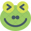 Frog Squinting Icon
