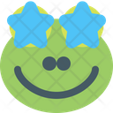 Frog Star Struck Icon