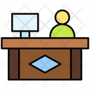 Front Desk Help Desk Information Counter Icon