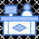 Front Desk Help Desk Information Counter Icon