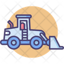 Front Loader Transport Vehicle Icon