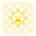 Frowning Closed Eyes Icon