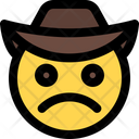 Frowning Cowboy Icon