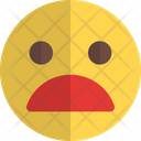 Frowning Face Mouth Icon