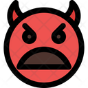 Frowning Open Mouth Devil Icon