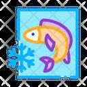 Frozen Fish Process Icon
