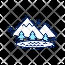 Ice Lake Nature Icon