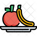 Fruit Vegetable Fitness Icon