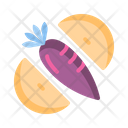 Fruit And Veggie Fruits Vegetable Icon