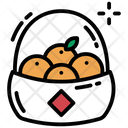 Fruit Basket Bucket Fruit Container Icon