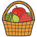 Fruit Basket Fruit Bucket Healthy Food Icon