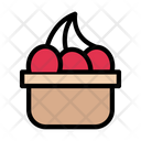Cherry Berries Basket Icon