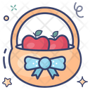 Grocery Fruits Basket Handbasket Icon
