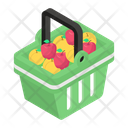 Fruit Basket Grocery Basket Fruit Bucket Icon