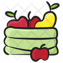 Fruit Basket Fruit Bucket Fresh Fruits Icon