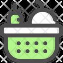 Basket Fruit Supplies Icon