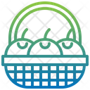 Basket Fruit Oranges Icon