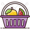 Fruit Basket Fruit Bucket Food Container Icon