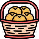 Basket Fruit Orange Icon