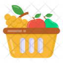 Fruit Bucket Fruit Basket Farm Basket Icon