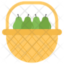 Fruit Basket Pears Avocado Basket Icon