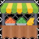 Fruit Stall Fruit Seller Fruit Shop Icon