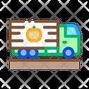 Fruit Delivering Cargo Icon