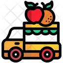 Fruit Car Delivery Icon