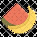 Banana Watermelon Fruits Icon
