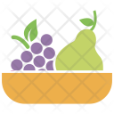 Fruits Pear Grapes Icon