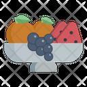 Fruits Strawberry Oranges Icon
