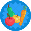 Fruits Vegetables Carrot Icon