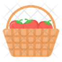 Fruits Bucket Fruits Basket Fruits Wicker Icon