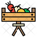 Fruits Vegetable Basket Icon