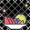 Fruits On Dish Fruits Fruit Icon
