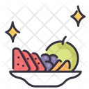 Fruits on dish Icon