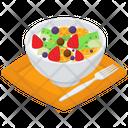 Fruits Salad Bowl Fruits Chart Mix Fruits Salad Icon