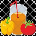 Fruits Vegetable Juice Icon