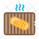 Frying Bread Barbecue Icon