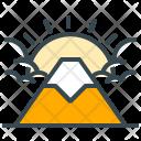Fuji Mountain Sun Icon